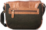 Tweed and Leather Flap Bag