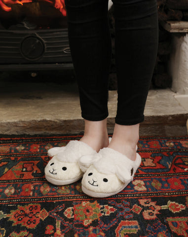 Aran Sheep Slip-on Adult Slippers