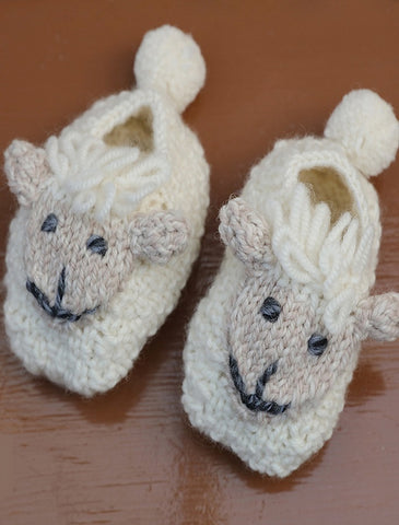 Baby Shepley Aran Booties Sliippers