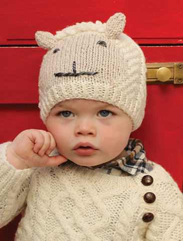 Baby Shepley Aran Hat with Ears