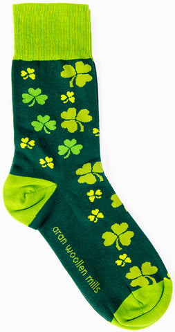 Green Shamrock Socks