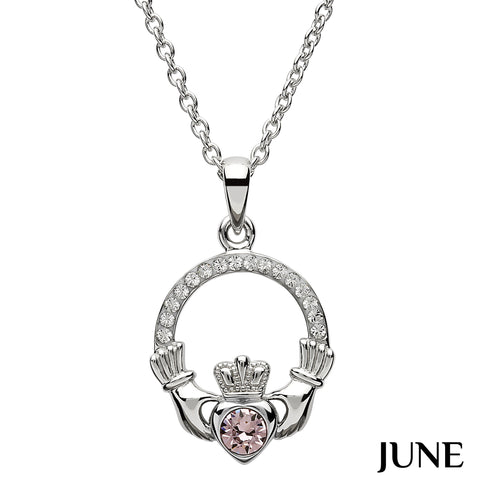 Necklace | Claddagh Birthstone June
