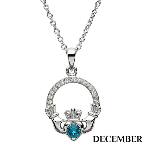 SharOre Claddagh Birthstone December Necklace