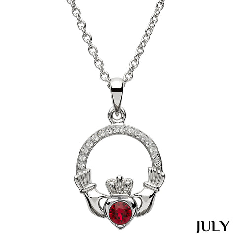 Necklace | Claddagh Birthstone July