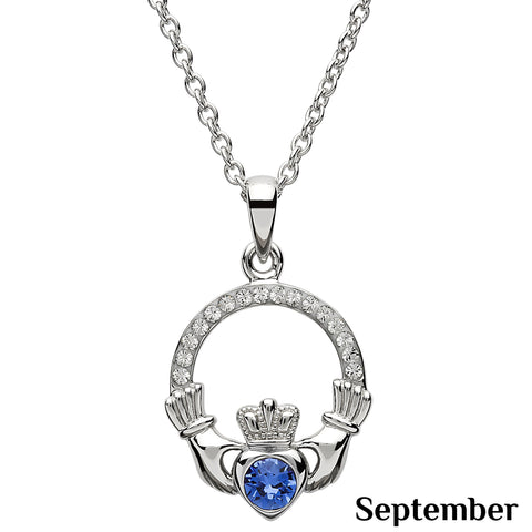SharOre Claddagh Birthstone September Necklace