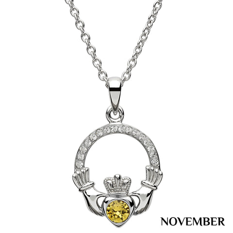 SharOre Claddagh Birthstone November Necklace