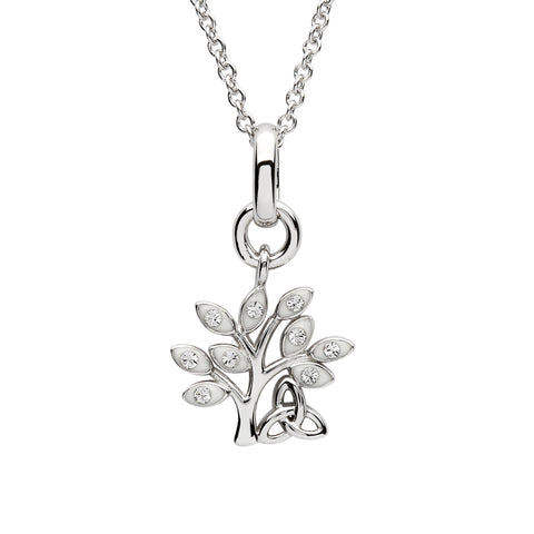 SharOre Crystal Set Tree Of Life Pendant Necklace