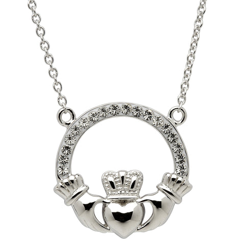 ShanOre Swarovski Crystal Claddagh Necklace