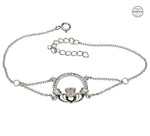 Bracelet | Claddagh Bracelet Adorned With Swarovski Crystals