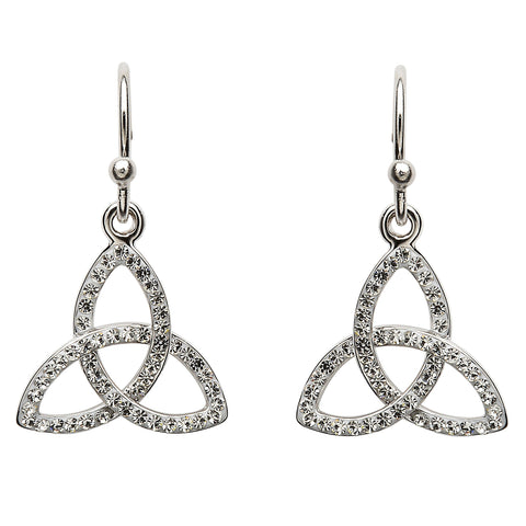 Trinity knot Earring Embellished With Swarovski Crystals Earrings