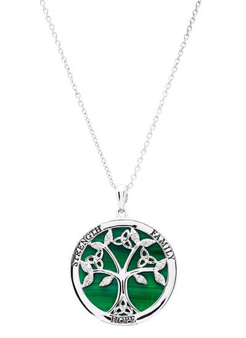 ShanOre Strength Family Hope Malachite Necklace
