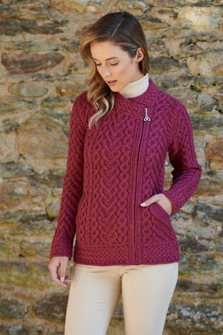 Aran Heart Design Zip Cardigan