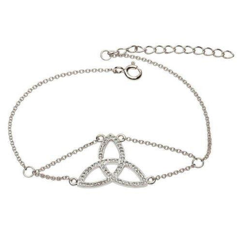 Trinity Knot Adorned With Swarovski Crystals Bracelet