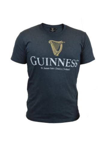 Guinness Navy Distressed Tee