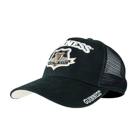 Guinness  Black Mesh Trucker Baseball Cap