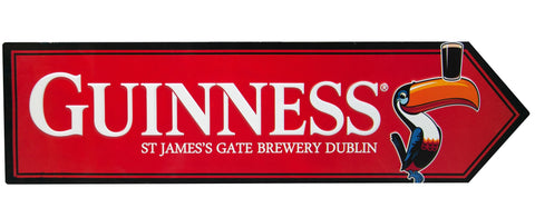 Guinness Metallic Red Toucan Road Sign