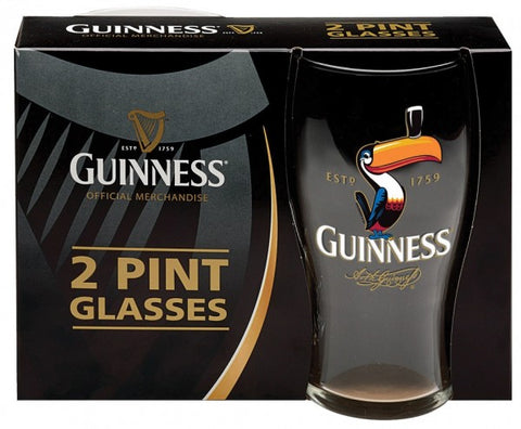 Guinness Toucan Pint Glass 2 Pack