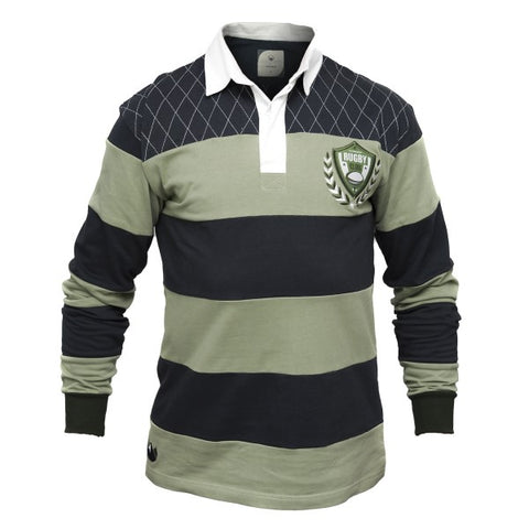 Croker Green & Navy Rugby Jersey
