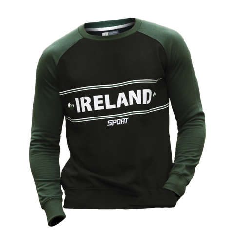 Croker Green & Black Crew Neck