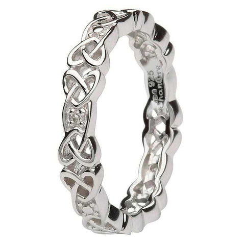 Silver Celtic Knot Stone Set Ring