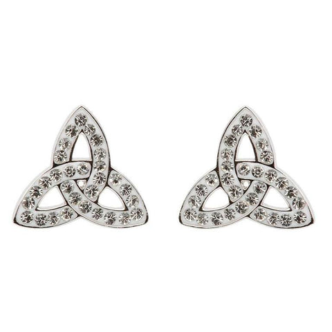 Swarovski Trinity Knot Stud Earrings