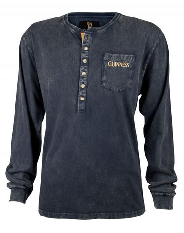Guinness Black Henley Shirt