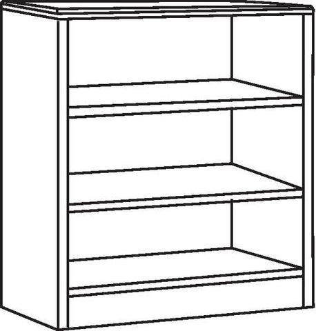 "3-Shelf Bookcase, 36"" W x 12"" D x 48"" H"
