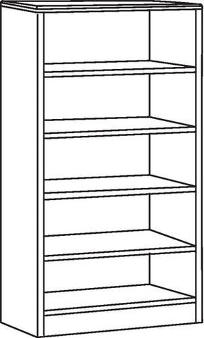 "5-Shelf Bookcase, 36"" W x 16"" D x 66"" H"