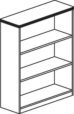 "HON 10500 Laminate Collection, Bookcase, 3-Shelf, 36"" W x 13"" D x 44"" H"