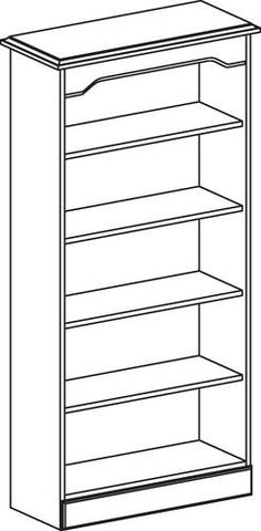 "Arlington 5-Shelf Bookcase, 28"" W x 15"" D x 70"" H"