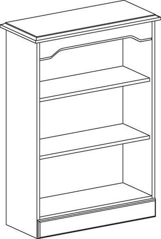 "Arlington 3-Shelf Bookcase, 28"" W x 15"" D x 48"" H"