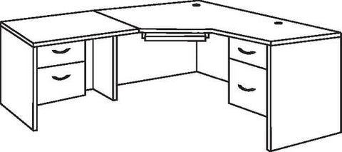L-Shaped Workstation with Left Return, 6' x 6'