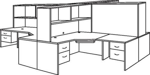 "4-Person Workstation, 12' x 12' x 66"" H"