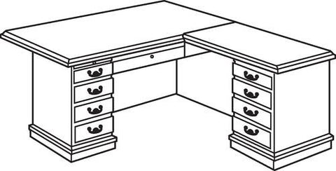 "Arlington L-Shaped Executive Desk, 72"" x 81"""