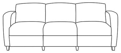 Comfort Plus Lounge Seating 3-Seat Lounge without Center Arms, Grade 1 Fabric