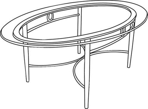 Comfort-Plus Oval Coffee Table