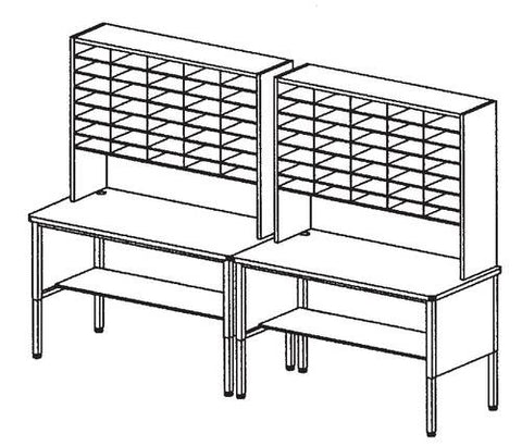 Marvel Mailroom Furniture, 70-Pocket Configuration