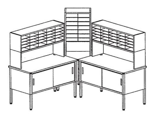 Marvel Mailroom Furniture, 64-Pocket Configuration