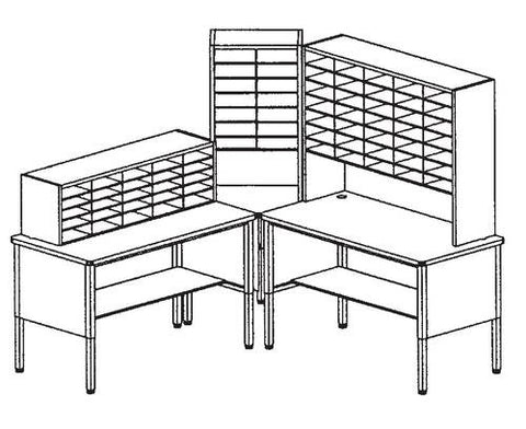 Marvel Mailroom Furniture, 74-Pocket Configuration
