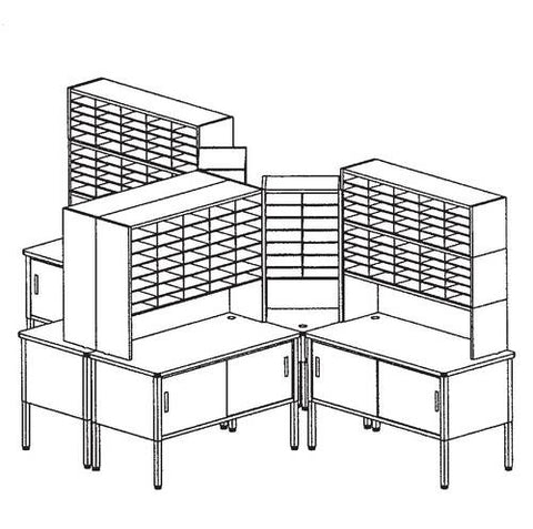 Marvel Mailroom Furniture, 198-Pocket Configuration