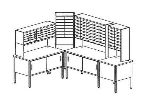 Marvel Mailroom Furniture, 88-Pocket Configuration