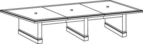 "Belmont Series Rectangular Conference Table, 168"" x 48"", 3-Piece Top"