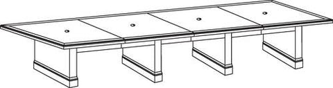 "Belmont Series Rectangular Conference Table, 216"" x 48"", 4-Piece Top"