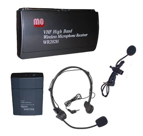 Wireless Lapel/Headset Mic Kit, 1 Frequency