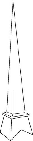 Fiberglass Spire, Standard Style, Medium, 19' High