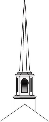 Fiberglass Spire, Traditional Style, Large, 43' High