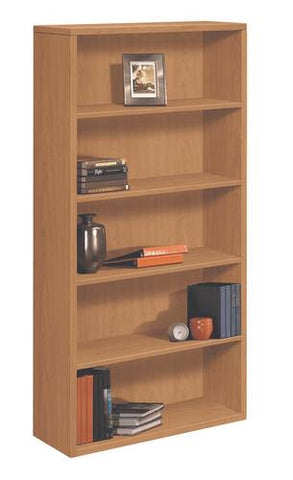 "HON 10500 Laminate Collection, Bookcase, 5-Shelf, 36"" W x 13"" D x 71"" H"