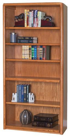 Handcrafted Genuine Oak 6-Shelf Bookcase