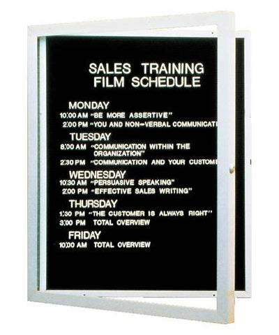 "1-Door Wall-Mounted Letter Board, 36"" H x 30"" W"