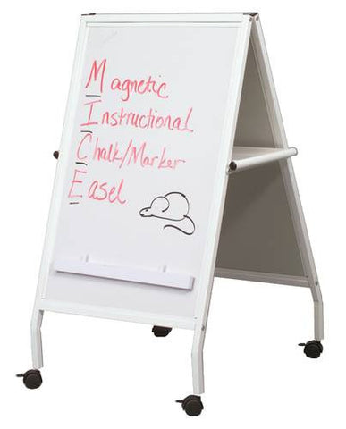 Mobile Magnetic Marker/Chalk Easel